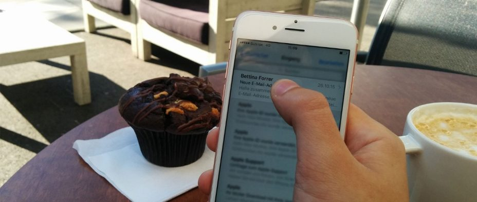 Handy iPhone 6s Kaffee Muffin 3D Touch Link