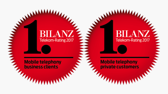 19e376cef4e Bilanz EN Privatkunden Mobilfunk campaign. Best mobile phone services.  Private   business customer rank Sunrise ...